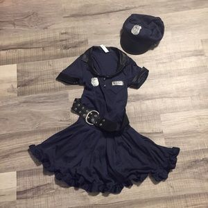 Cop Cutie girls cop haloween costume. Size 4-5